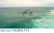 Aerial view of seascape on a sunny day 4k. Стоковое видео, агентство Wavebreak Media / Фотобанк Лори