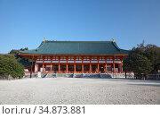 Daigoku-den Hall of the Heian-jingu Shrine. Kyoto. Japan (2007 год). Стоковое фото, фотограф Serg Zastavkin / Фотобанк Лори