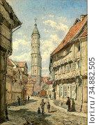 Alt Franz - Andreaskirche Braunschweig - Austrian School - 19th Century... Редакционное фото, фотограф Artepics / age Fotostock / Фотобанк Лори
