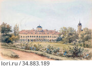 Alt Franz - Schloss Laxenburg near Vienna - Austrian School - 19th... Редакционное фото, фотограф Artepics / age Fotostock / Фотобанк Лори