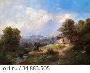 Barbarini Franz - Partie Aus Südtirol - Austrian School - 19th Century... Редакционное фото, фотограф Artepics / age Fotostock / Фотобанк Лори