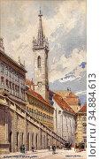 Pendl Erwin - Augustinerstrasse Wien - Austrian School - 19th Century. (2020 год). Редакционное фото, фотограф Artepics / age Fotostock / Фотобанк Лори