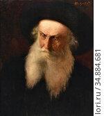Priechenfried Alois Heinrich - Portrait of a Jewish Scholar - Austrian... Редакционное фото, фотограф Artepics / age Fotostock / Фотобанк Лори