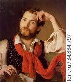 Reiter Johann Baptist - Self Portrait - Austrian School - 19th Century... (2020 год). Редакционное фото, фотограф Artepics / age Fotostock / Фотобанк Лори