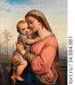 Russ I Franz - Madonna Mit Kind - Austrian School - 19th Century. Редакционное фото, фотограф Artepics / age Fotostock / Фотобанк Лори