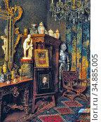 Schodl Max - the Artist's Studio - Austrian School - 19th Century. Редакционное фото, фотограф Artepics / age Fotostock / Фотобанк Лори