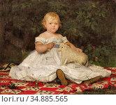 Anker Albert - Bildnis Emilie Weiss 1 - Swiss School - 19th Century. Редакционное фото, фотограф Artepics / age Fotostock / Фотобанк Лори