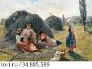 Bachmann Hans - Afternoon Rest 2 - Swiss School - 19th Century. Редакционное фото, фотограф Artepics / age Fotostock / Фотобанк Лори
