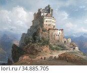 Bossoli Carlo - the Monastery of San Michele Italy - Swiss School... Редакционное фото, фотограф Artepics / age Fotostock / Фотобанк Лори