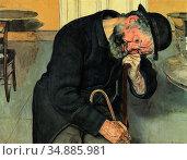 Hodler Ferdinand - a Troubled Soul - Swiss School - 19th Century. Редакционное фото, фотограф Artepics / age Fotostock / Фотобанк Лори