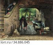 Monteverde Luigi - Che Significa - Swiss School - 19th Century. Редакционное фото, фотограф Artepics / age Fotostock / Фотобанк Лори