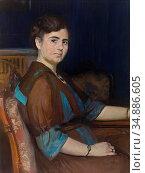 Breslau Marie Louise - Portrait Einer Sitzenden Dame - Swiss School... Редакционное фото, фотограф Artepics / age Fotostock / Фотобанк Лори