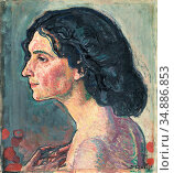 Hodler Ferdinand - Giulia Leonardi 2 - Swiss School - 19th Century. Редакционное фото, фотограф Artepics / age Fotostock / Фотобанк Лори