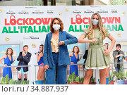 Paola Minaccioni, Martina Stella during the photocall, Rome, ITALY... Редакционное фото, фотограф Maria Laura Antonelli / AGF/Maria Laura Antonelli / age Fotostock / Фотобанк Лори