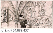 Merson Luc-Olivier - Illustration of Victor Hugo's 'notre Dame De... Редакционное фото, фотограф Artepics / age Fotostock / Фотобанк Лори