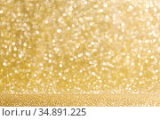 Shiny golden lights background. Стоковое фото, фотограф Иван Михайлов / Фотобанк Лори