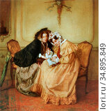 Bakker Korff Alexander Hugo - Het Geheim - Dutch School - 19th Century... Редакционное фото, фотограф Artepics / age Fotostock / Фотобанк Лори