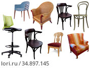 Collection of chairs and armchairs. Стоковое фото, фотограф Яков Филимонов / Фотобанк Лори