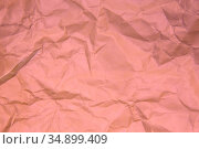 Crumpled pink paper. Стоковое фото, фотограф Юрий Бизгаймер / Фотобанк Лори