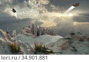 UIG-71096_RF_28_ALIEN_OUTPOST_199A3H. Стоковое фото, фотограф UNIVERSAL IMAGES GROUP / age Fotostock / Фотобанк Лори