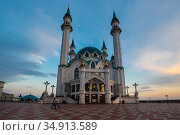 The Kul Sharif Mosque - one of the largest mosques in Russia (2018 год). Стоковое фото, фотограф Юлия Белоусова / Фотобанк Лори