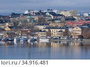 Облачный мартовский день в Стокгольме. Швеция (2019 год). Стоковое фото, фотограф Виктор Карасев / Фотобанк Лори
