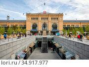 Central Station, Hannover, Lower Saxony, Germany. Редакционное фото, агентство Caro Photoagency / Фотобанк Лори