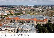 City panorama, old town, central station, Leipzig, Saxony, Germany. Редакционное фото, агентство Caro Photoagency / Фотобанк Лори