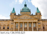 Federal Administrative Court, Leipzig, Saxony, Germany. Редакционное фото, агентство Caro Photoagency / Фотобанк Лори