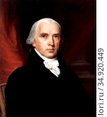 James Madison, Jr. (March 16, 1751 – June 28, 1836) was a political... (2016 год). Редакционное фото, фотограф Pictures From History / age Fotostock / Фотобанк Лори