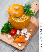 Image of Pumpkin soup. Стоковое фото, фотограф Яков Филимонов / Фотобанк Лори