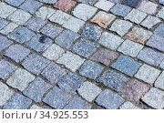 Abstract street paving stones as a background. Стоковое фото, фотограф Артем Блинов / Фотобанк Лори