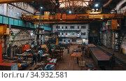 13-08-2020 Russia, Naberezhnye Chelny: plant for the production of lifting cranes - people working. Редакционное видео, видеограф Константин Шишкин / Фотобанк Лори