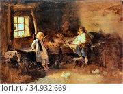 Kotsis Aleksander - Mother Died - Polish School -. Редакционное фото, фотограф Artepics / age Fotostock / Фотобанк Лори