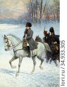 Chelminski Jan Van - Napoleon and His Officers Russian Campaign 1812... Редакционное фото, фотограф Artepics / age Fotostock / Фотобанк Лори