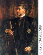 Matejko Jan - Portrait of Alfred Potocki - Polish School -. Редакционное фото, фотограф Artepics / age Fotostock / Фотобанк Лори