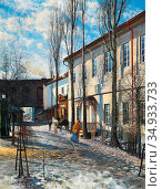 Romer Edward Mateusz - Spring in Vilnius - Polish School -. Редакционное фото, фотограф Artepics / age Fotostock / Фотобанк Лори