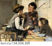 Cantzler Johan Oscar - Violinisten (Der Erste Beifall) - Swedish ... Редакционное фото, фотограф Artepics / age Fotostock / Фотобанк Лори