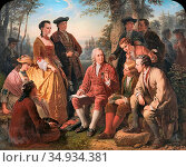 Brusewitz Gustaf - Carl Von Linné Och Hans Lärjungar - Swedish School... Редакционное фото, фотограф Artepics / age Fotostock / Фотобанк Лори