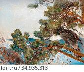 Liljefors Bruno - Duvhök - Swedish School - 19th Century. Редакционное фото, фотограф Artepics / age Fotostock / Фотобанк Лори