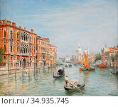 Odelmark Frans Wilhelm - Canale Grande - Venedig - Swedish School... Редакционное фото, фотограф Artepics / age Fotostock / Фотобанк Лори