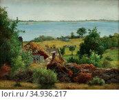 Silvén Jacob - Den Vita Katten - Swedish School - 19th Century. (2020 год). Редакционное фото, фотограф Artepics / age Fotostock / Фотобанк Лори