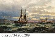 Swensson Christian Fredrik - Marin 1 - Swedish School - 19th Century. Редакционное фото, фотограф Artepics / age Fotostock / Фотобанк Лори