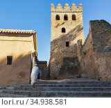 Chefchaouen, Morocco. Tower of the Kasbah, or castle. Стоковое фото, фотограф Ken Welsh / age Fotostock / Фотобанк Лори