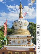 Eudlo, Queensland, Australia. The Stupa. Stupas contain holy relics... Стоковое фото, фотограф Ken Welsh / age Fotostock / Фотобанк Лори