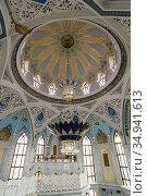 The Kul Sharif Mosque in Kazan (2018 год). Стоковое фото, фотограф Юлия Белоусова / Фотобанк Лори