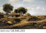 Klodt Michail Konstantinovitsj - Village in the Province of Orel - ... Стоковое фото, фотограф Artepics / age Fotostock / Фотобанк Лори