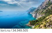 Via Nastro Azzurro, Amalfi Coast. Italy (2013 год). Стоковое фото, фотограф Alexander Tihonovs / Фотобанк Лори