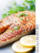 Salmon,salmon fillet. Стоковое фото, фотограф LFL / easy Fotostock / Фотобанк Лори