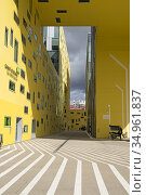 Ilot Gruner (Architecte: Manuelle Gautrand), batiment administratif... (2020 год). Редакционное фото, фотограф Christian Goupi / age Fotostock / Фотобанк Лори
